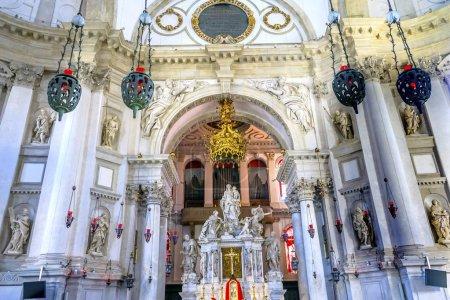 Santa Maria della Salute Church Basilica Altar Venice Italy