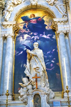 Assumption Lady Giordano Santa Maria della Salute Church Venice Italy