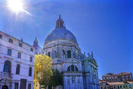 Sun Sunflare Santa Maria della Salute Church Dome Venice Italy