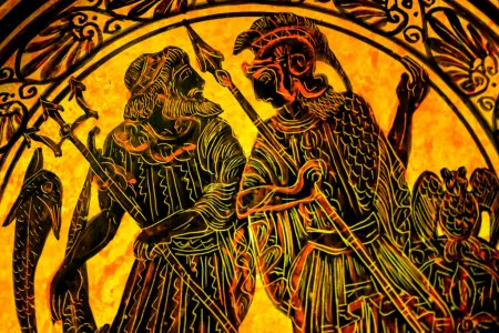 Poseiden Neptune Theseus Greek Warrior Greek Desig...