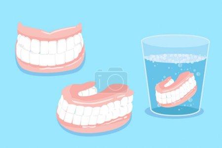 Cute cartoon false tooth for your healthy concept...