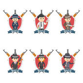 mafia emblem set illustration design