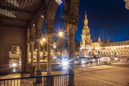Photo pour Séville, Espagne - vers octobre 2019 : la Plaza de Espana de la ville de Séville en Andalousie, Espagne - image libre de droit