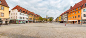 SCHWEINFURT, GERMANY - CIRCA AUGUST, 2018:  The market square alias Marktplatz of Schweinfurt in Germany