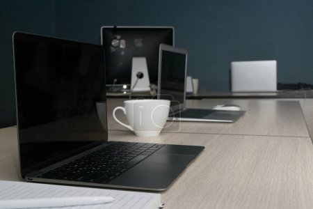 Contemporary Office Table with Equipments