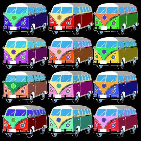 van bus vector freedom retro car
