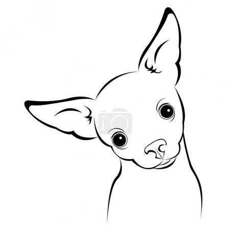 Dog vector funny little home eared background...