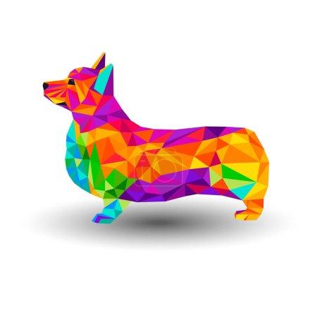 vector welsh dog animal illustration pet