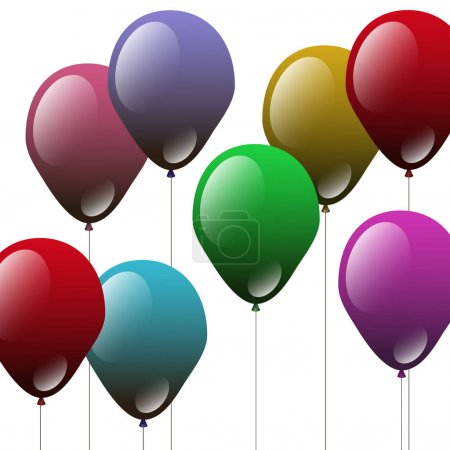 balloon vector celebration illustration decoration helium