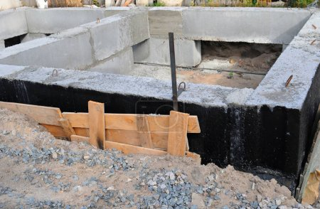 Waterproofing foundation bitumen.