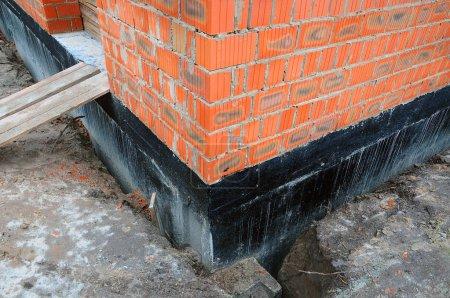 Waterproofing foundation bitumen.