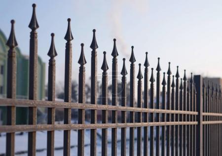 Image of a beautiful iron fence.