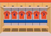 Soccer dressing rooms team football sport