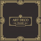 Art Deco Border frame vector 05