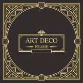 Art Deco Border frame vector 01