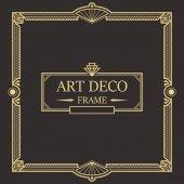 Art Deco Border frame vector 03