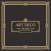Art Deco Border frame vector 02