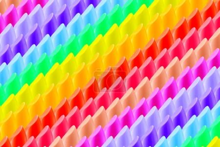 Photo for Abstract colorful lipstick background,rainbow - Royalty Free Image