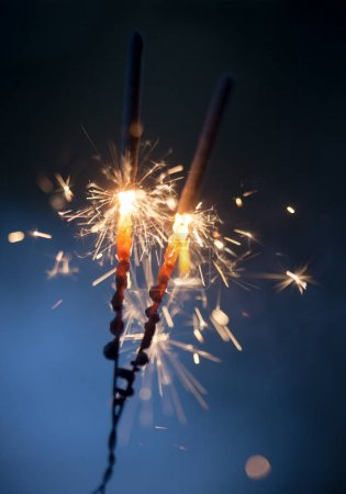 Two Sparklers burning