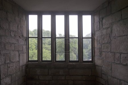 Photo for Old window from inside of building - Royalty Free Image