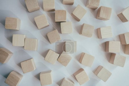 wooden cubes. It is isolated on a white background