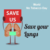 World no tobacco day celebationremembrance design top sign