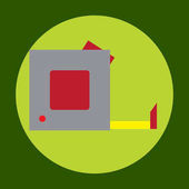 Tape measure icon in trendy flat style isolated on grey background. Construction symbol for your design, logo, UI. Vector illustration, EPS10.