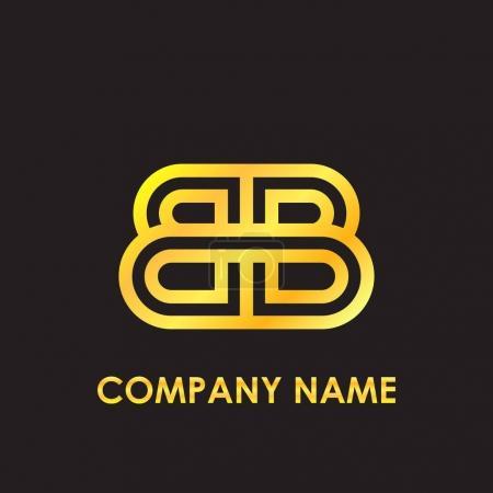 Illustration pour Lettre initiale version or, élégant pour l'identité d'entreprise - image libre de droit