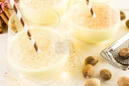 Traditional holiday egg nog drinks