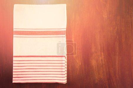 Dish towel close up