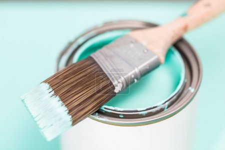 Paint brushes close up