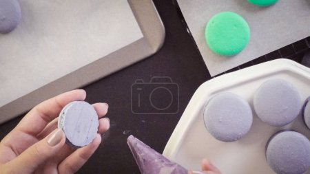 French macarons close up