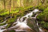 Water flow in a stream, long exposure