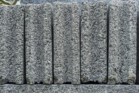 stack of cement brick blocks close