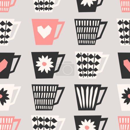 Seamless Coffee Cups Pattern
