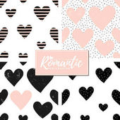 Romantic Seamless Patterns Set