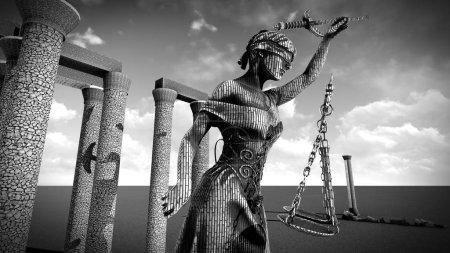 Photo pour Statue symbole de justice et de droit - image libre de droit