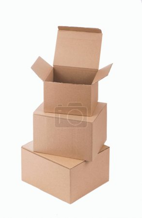 Photo for Cardboard box isolated on a white background. - Royalty Free Image