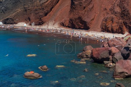 View of Red Beach in