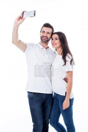 Couple making selfie