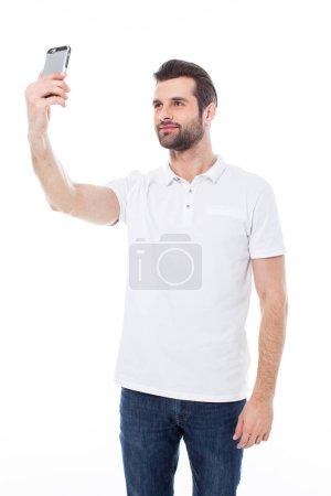 Man making selfie