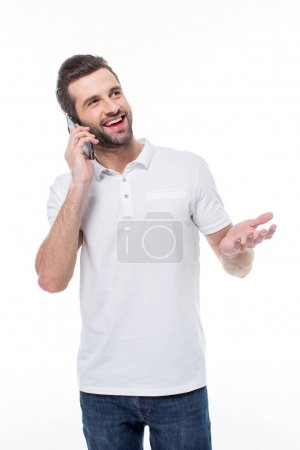 Man talking on smartphone