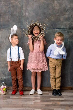 Kids in bunny ears