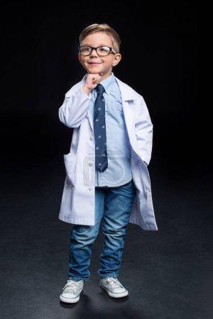 Little boy scientist