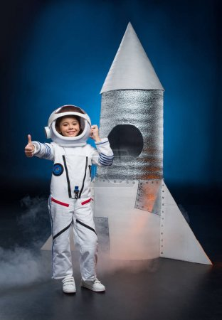 Girl in astronaut costume