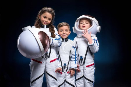 Kids in space suits