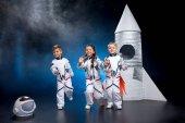 """Постер, картина, фотообои """"Дети играют в космонавты"""""""