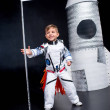 Постер, плакат: Boy in astronaut costume
