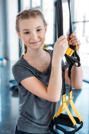 girl training with resistance bands