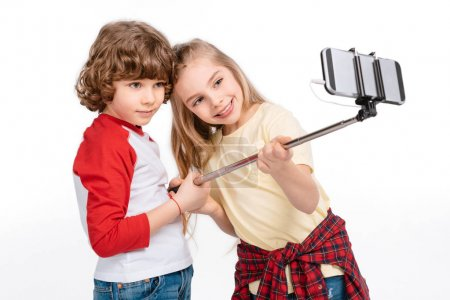 Kids taking selfie